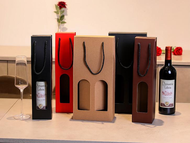 Scatola di bottiglia di vino