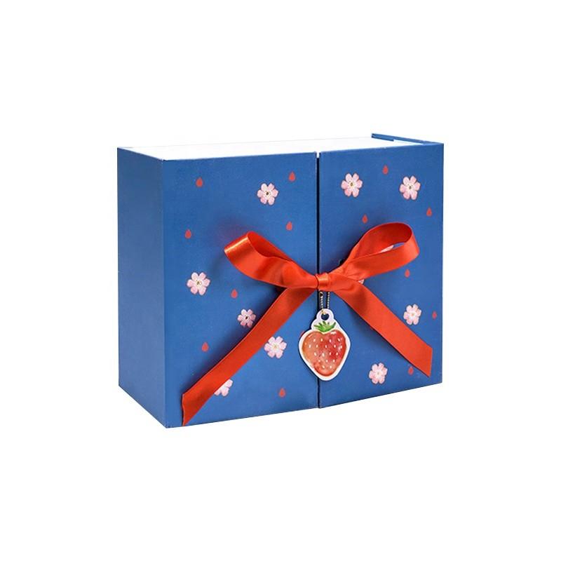 Scatola di immagazzinaggio del regalo della scatola di imballaggio promozionale del regalo della scatola di alta qualità all'ingrosso della fragola dell'ingrosso per i bambini