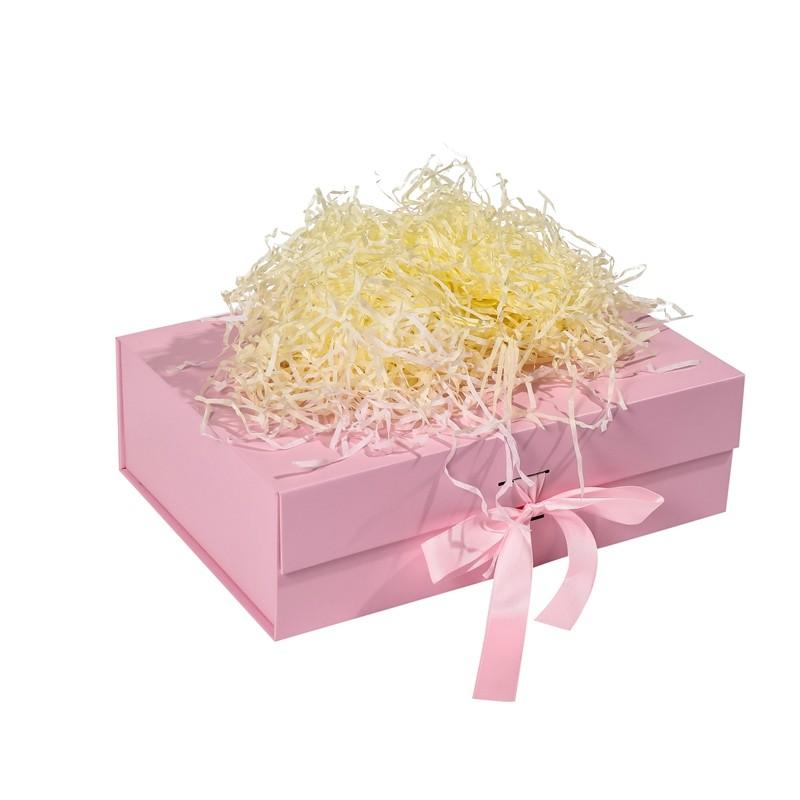 الصلبة لون هدية قابلة للطي مربع مع القوس الشريط للأجنام