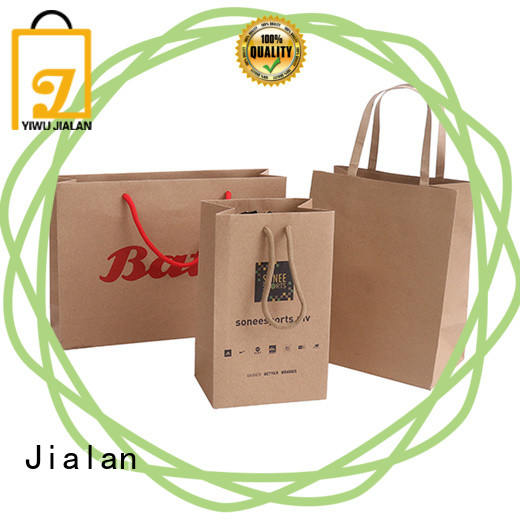 Jialan good quality kraft paper bags ideal for special festival gift packaging