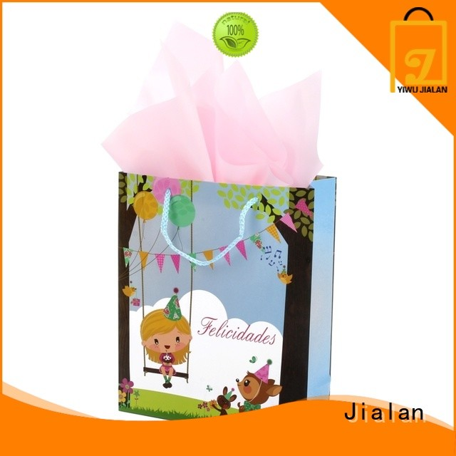 Jialan paper bag supplier very useful for packing birthday gifts