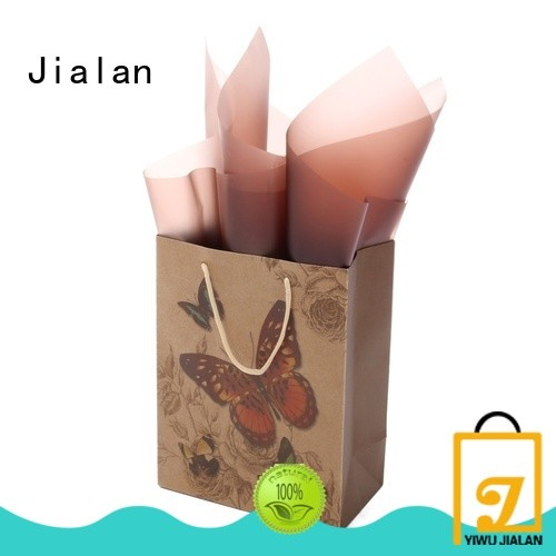 Jialan customized kraft paper bags great for shoe stores